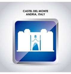 Castel del monte icon italy culture design vector