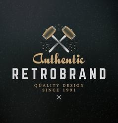 Crossed Sledgehammers Vintage Retro Design vector image