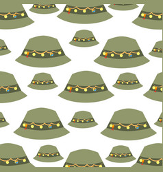 Fisher hat pattern background vector