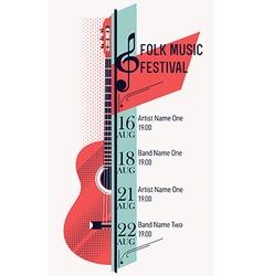 Folk Music Festival Banner Template vector image vector image