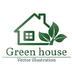 Green house logo eco house green house green hous vector