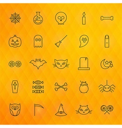 Halloween thin line icons set vector