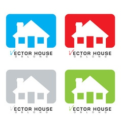 House icon set vector image vector image