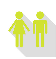 Male and female sign pear icon with flat style vector