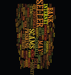 Modern scams online text background word cloud vector