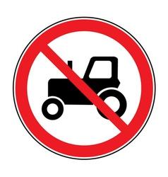 no tractor road sign vector image vector image