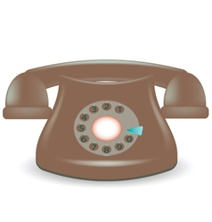 Old phone vector