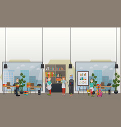 professional office cleaning services flat vector image