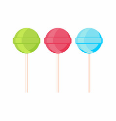 Set of lollipop candis on sticks sweets vector