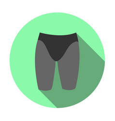 Sports swimming jammers icon vector