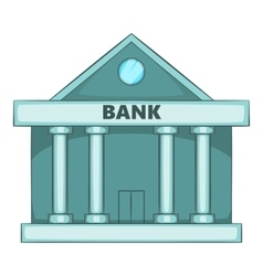 Swiss Bank icon cartoon style vector image
