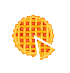 tasty pie isolated icon vector image vector image