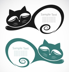 The design of the cat vector image vector image
