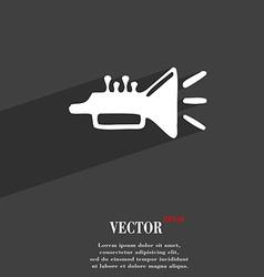 Trumpet brass instrument icon symbol flat modern vector