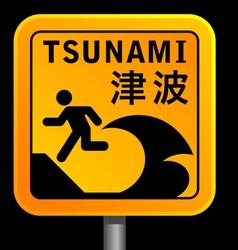 Tsunami warining signs vector
