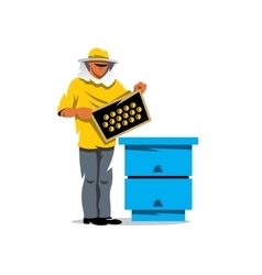 Apiary beekeeper Cartoon vector image