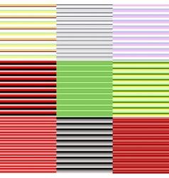 set of horizontal patterns vector image