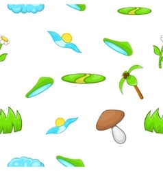 Environment pattern cartoon style vector