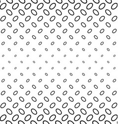 Abstract monochrome ellipse ring pattern design vector