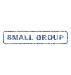 Small group textile stamp vector