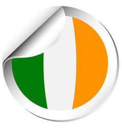 Flag icon design for ireland vector