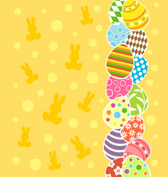 Easter background card vector
