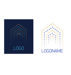 Logo house of dots vector