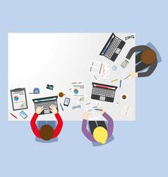 Business meeting flat concept vector