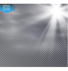 star and fog or smog on a transparent background vector image