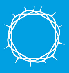 Crown of thorns icon white vector
