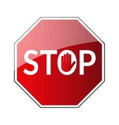 Stop traffic road sign vector