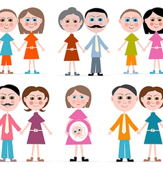Family Members Set Isolated on white Backgro vector image