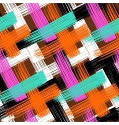 Seamless bold plaid pattern vector