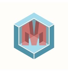 3D Letter M Logo Icon Design Template Element vector image vector image