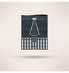 Inn building icon in the flat style vector