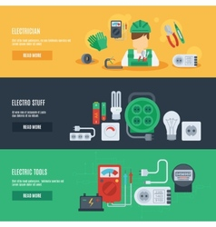 Electricity banner set vector