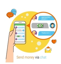 Transferring money via chat vector