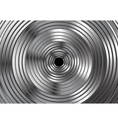 Metallic circles abstract design vector image