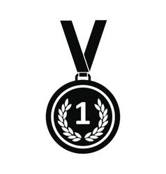 Medal black simple icon vector