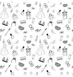 Hand drawn fashion seamless pattern for adult vector