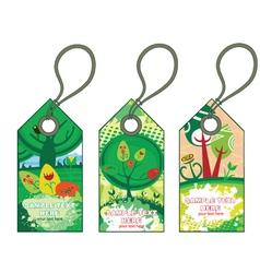 spring shopping tags set vector image