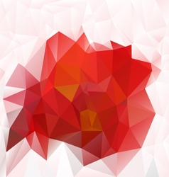 Hot red abstract polygon triangular pattern vector