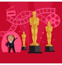 Film awards design flat banner concept vector