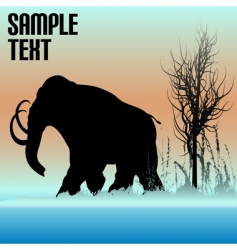 mammoth dawn vector image