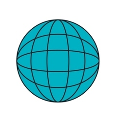 Blue spehere simbolizing global connection vector