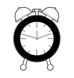 alarm clock black color section silhouette on vector image vector image