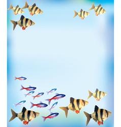 Aquarium background vector image vector image