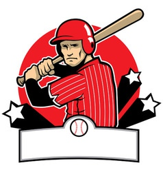 baseball player ready to hit vector image vector image