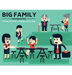 Big family infographic vector