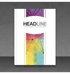 Business brochure report design template vector